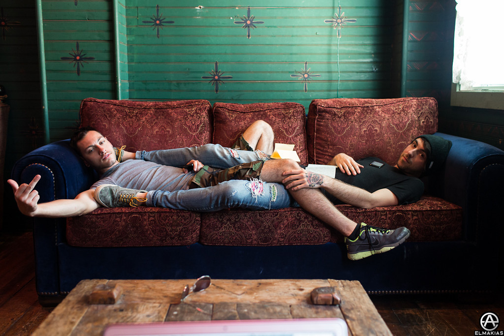 Dudes on a couch