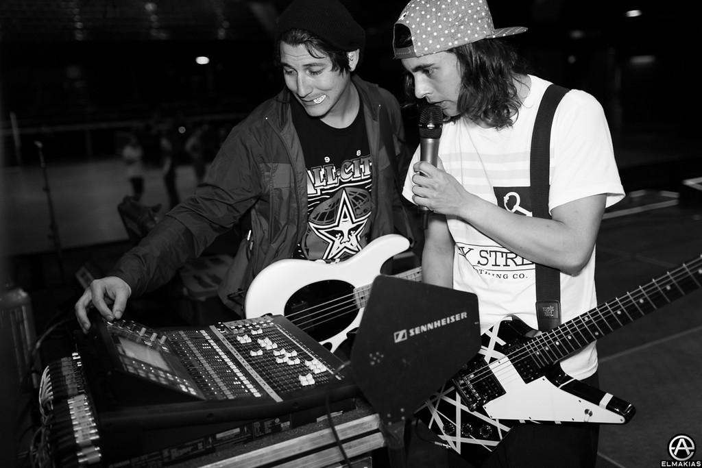 Jaime Preciado and Vic Fuentes of Pierce The Veil
