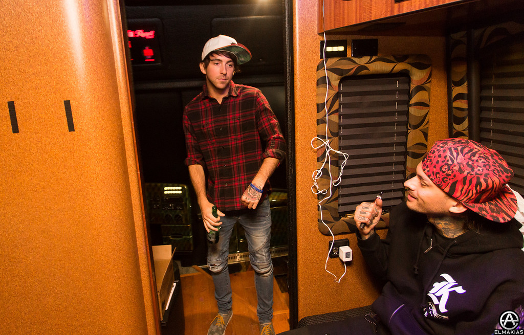Alex Gaskarth and Mike Fuentes
