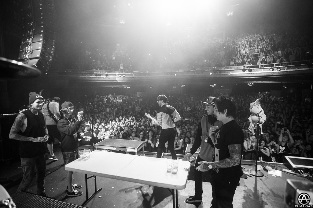 Pierce The Veil playing beer pong in an unusual location - Spring Fever Tour