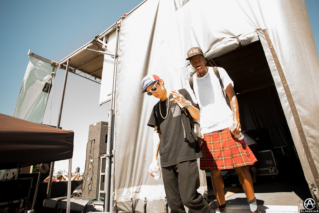 Crizzly and his kilted comrade
