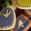 Classic Elegant tea party biscuits with colorful animal design.