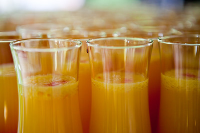 Orange juice with red liqueur.