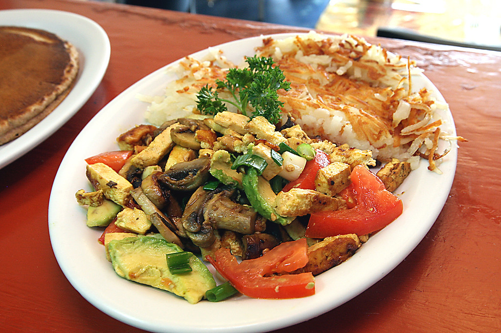 . Tofu scramble is one of the more popular dishes at Cliff Cafe. (Dan Coyro -- Santa Cruz Sentinel)
