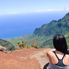 Kalalau Valley from the Pu'u o Kila lookout in Kauai, Hawaii