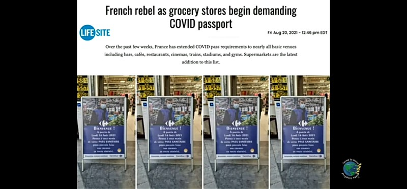 Covid Passports to simply buy food