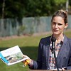 BEN GARVER — THE BERKSHIRE EAGLE<br /> Executive Office of Energy and Environmental Affairs Secretary Kathleen Theoharides (at Podium) visited Becket to announce grants to support culvert replacement projects that improve municipal roads and river health in communities across the Commonwealth.<br /> Monday, September 14, 2020