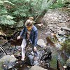BEN GARVER — THE BERKSHIRE EAGLE<br /> Secretary Kathleen Theoharides explores Center Pond Brook in Becket.  <br /> Executive Office of Energy and Environmental Affairs Secretary Kathleen Theoharides visited Becket to announce grants to support culvert replacement projects that improve municipal roads and river health in communities across the Commonwealth.<br /> Monday, September 14, 2020