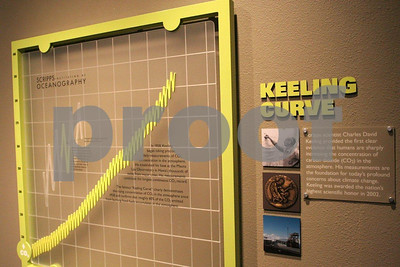 Keeling Curve on carbon dioxide, Birch Aquarium, LaJolla, CA