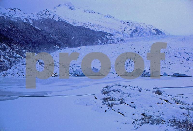 Mendenhall Glacier near Juneau, Alaska in December 1979.