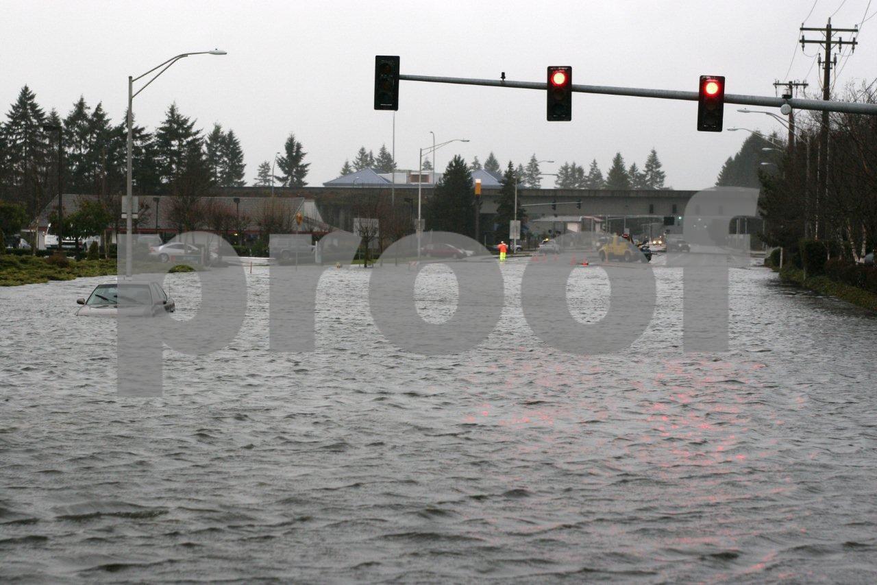 Urban flooding, Olympia, Washington