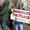 """Standing on the side with our BFP banner, marchers greeted us with chants and cheers - """"Brooklyn's in the house!"""""""