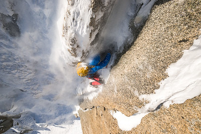 Victor Saunders on the north face of the Aiguille du Chardonnet