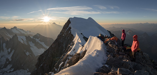 Tom Coney and Valentine Fabre on the Grandes Jorasses