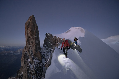 Alastair McDowell and Anna Wells on the Rochefort Arete