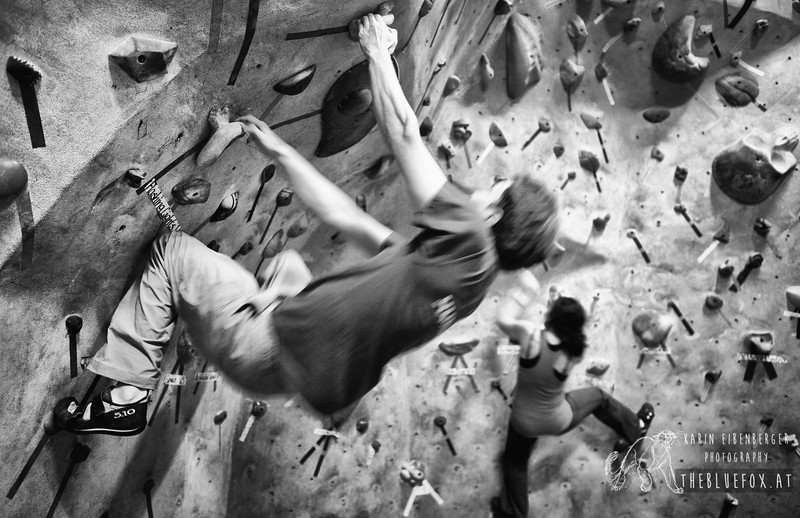 2012_01_11 Climbing with Asli and Alex in Columbia, MD.<br /> First trial of using a heavy camera in the gym ;)