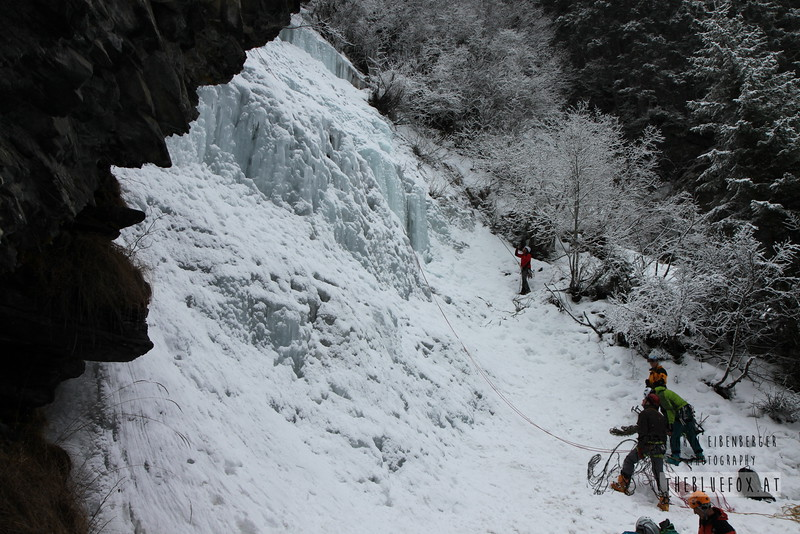 February 2013. Luibisbodenfall, Pitztal, Tyrol. WI4.