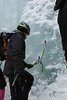 February 2013. Taschachschlucht, Pitztal, Tyrol. WI4-5<br /> Perfect anchor :)
