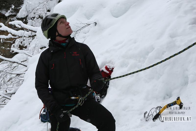 February 2013. Taschachschlucht, Pitztal, Tyrol. WI4-5