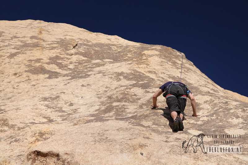 March 2012. Friction Climbing at Echo Cove.