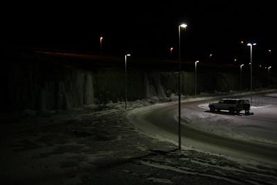 Séð yfir svæðið. Við settum upp ofanvað og prófuðum nokkrar mismunandi leiðir.