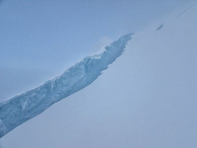 Crevasse on Antisana