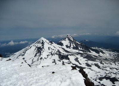 Middle Sister/North Sister from summit