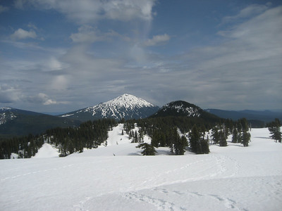 View of Mt. Bachelor from campsite