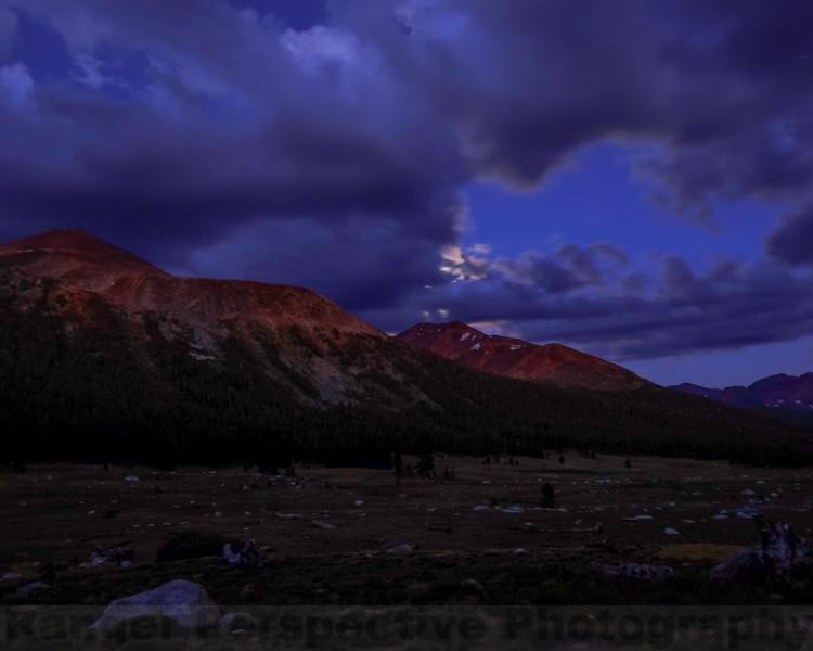 Mount Dana and Mount Gibbs at Night