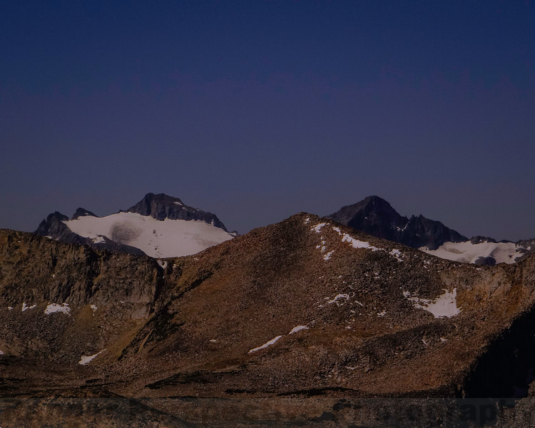 The Kuna Crest with Mount Lyell and Mount Maclure beyond