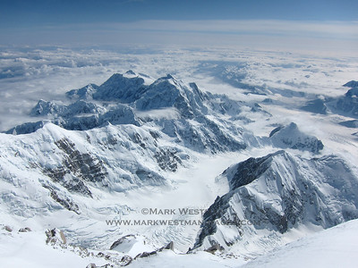 The view from the summit of Denali.