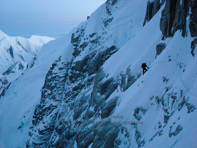 Colin Haley on the Denali Diamond route, Denali.