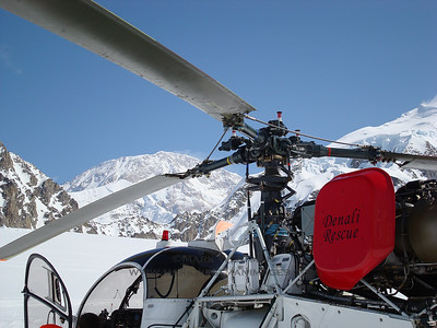 "The lightweight ""Lama"" helicopter used by the National Park Service for high altitude rescues. This aircraft has since been replaced by a B-3 A-Star helicopter."