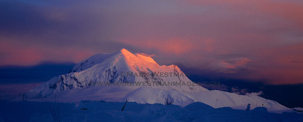 3 AM sunrise on Mount Foraker.