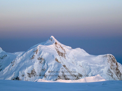 Alpenglow on Mount Hunter.
