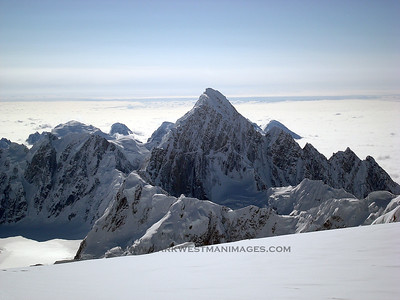 Mount Huntington viewed from Denali's south buttress.