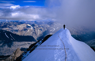 Summit of Mount Athabasca, Jasper National Park, Alberta.
