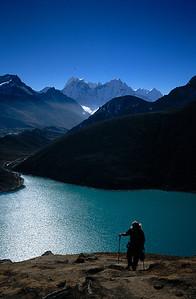 At 17,000 feet climbing Gokyo Ri, Khumbu Region, Nepal Himalaya.