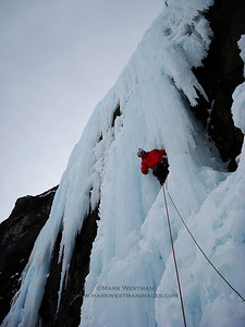 Nemesis on the Stanley Headwall, Canadian Rockies.