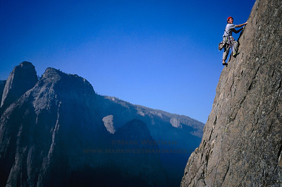 Climbing on the east buttress of El Capitan, Yosemite National Park, California.