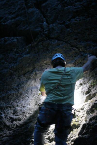 It's not dark until Cullen's headlamp battery runs out...
