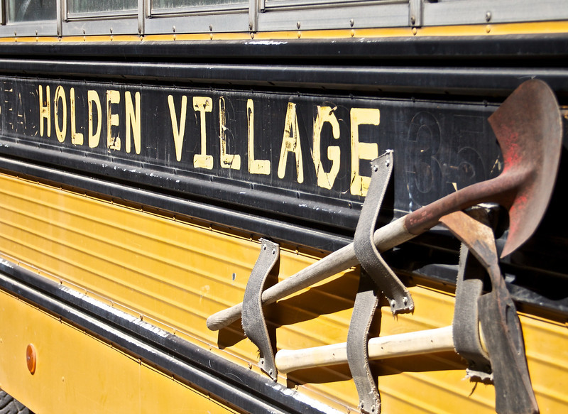 Once you drive 3 hours to Chelan and take a 2 hour boat ride, you ride on this bus.  45 minutes later you are in Holden.  Such a cool trip.