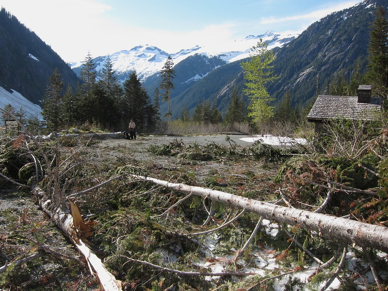 Cascade Pass Trailhead damage.  Still closed on Jun 26!
