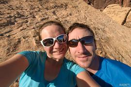 top of route selfie