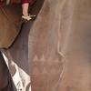 Sarah on Petroglyphs climb at Big Enchilada