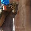 John on Petroglyphs climb at Big Enchilada
