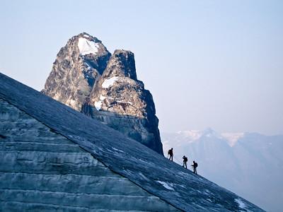 Group on Pearl Glacier, Bugaboos