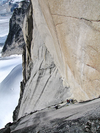 Climbers on Beckey route Snowpatch 2005
