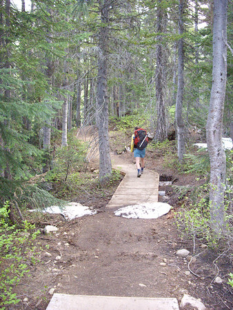 Start of the Blue Lake trail on the way up.