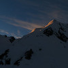 Last light on Mt Tasman 9pm